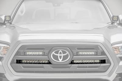 ZROADZ - 2018-2019 Toyota Tacoma OEM Grille LED Kit with (2) 10 Inch LED Single Row Slim Light Bars - PN #Z419611-KIT - Image 1