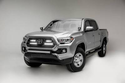 ZROADZ - 2018-2019 Toyota Tacoma OEM Grille LED Kit with (2) 10 Inch LED Single Row Slim Light Bars - PN #Z419611-KIT - Image 3