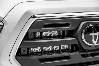 ZROADZ - 2018-2019 Toyota Tacoma OEM Grille LED Kit with (2) 10 Inch LED Single Row Slim Light Bars - PN #Z419611-KIT - Image 7