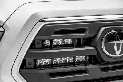 ZROADZ - 2018-2019 Toyota Tacoma OEM Grille LED Kit with (2) 6 Inch and (2) 10 Inch LED Straight Single Row Slim Light Bars - PN #Z419711-KIT - Image 6