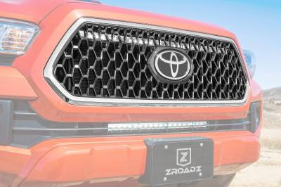 ZROADZ - 2018-2019 Toyota Tacoma TRD Sport, Off-Road OEM Grille LED Kit with (1) 30 Inch LED Straight Single Row Slim Light Bar - PN #Z419811-KIT - Image 3