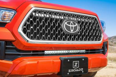 ZROADZ - 2018-2019 Toyota Tacoma TRD Sport, Off-Road OEM Grille LED Kit with (1) 30 Inch LED Straight Single Row Slim Light Bar - PN #Z419811-KIT - Image 4