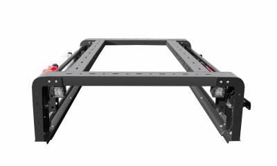 ZROADZ OFF ROAD PRODUCTS - 2019-2021 Jeep Gladiator Overland Access Rack With Two Lifting Side Gates, Without Factory Trail Rail Cargo System - PN #Z834101 - Image 7
