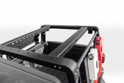 ZROADZ OFF ROAD PRODUCTS - 2019-2021 Jeep Gladiator Overland Access Rack With Two Lifting Side Gates, Without Factory Trail Rail Cargo System - PN #Z834101 - Image 9