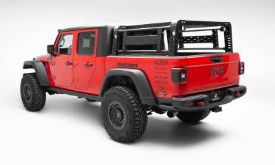 ZROADZ - 2019-2021 Jeep Gladiator Access Overland Rack With Two Lifting Side Gates, For use on Factory Trail Rail Cargo Systems - PN #Z834111 - Image 2