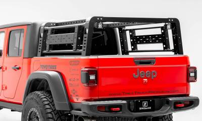 ZROADZ - 2019-2021 Jeep Gladiator Access Overland Rack With Two Lifting Side Gates, For use on Factory Trail Rail Cargo Systems - PN #Z834111 - Image 3