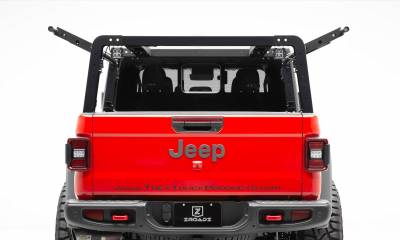 ZROADZ - 2019-2021 Jeep Gladiator Access Overland Rack With Two Lifting Side Gates, For use on Factory Trail Rail Cargo Systems - PN #Z834111 - Image 5