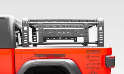 ZROADZ - 2019-2021 Jeep Gladiator Access Overland Rack With Two Lifting Side Gates, For use on Factory Trail Rail Cargo Systems - PN #Z834111 - Image 10