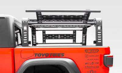ZROADZ - 2019-2021 Jeep Gladiator Access Overland Rack With Two Lifting Side Gates, For use on Factory Trail Rail Cargo Systems - PN #Z834111 - Image 11
