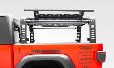 ZROADZ - 2019-2021 Jeep Gladiator Access Overland Rack With Two Lifting Side Gates, For use on Factory Trail Rail Cargo Systems - PN #Z834111 - Image 12