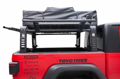ZROADZ OFF ROAD PRODUCTS - 2019-2021 Jeep Gladiator Access Overland Rack With Three Lifting Side Gates, Without Factory Trail Rail Cargo System - PN #Z834201 - Image 12
