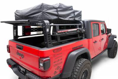 ZROADZ OFF ROAD PRODUCTS - 2019-2021 Jeep Gladiator Access Overland Rack With Three Lifting Side Gates, Without Factory Trail Rail Cargo System - PN #Z834201 - Image 14