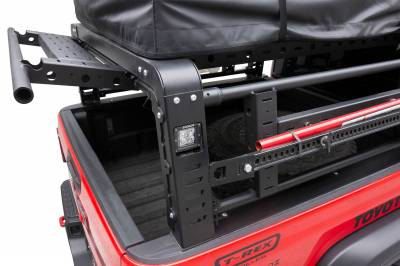 ZROADZ OFF ROAD PRODUCTS - 2019-2021 Jeep Gladiator Access Overland Rack With Three Lifting Side Gates, Without Factory Trail Rail Cargo System - PN #Z834201 - Image 16