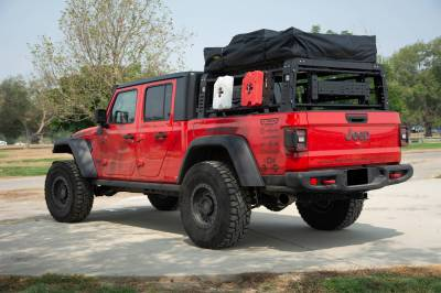 ZROADZ OFF ROAD PRODUCTS - 2019-2021 Jeep Gladiator Access Overland Rack With Three Lifting Side Gates, Without Factory Trail Rail Cargo System - PN #Z834201 - Image 19