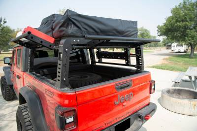ZROADZ OFF ROAD PRODUCTS - 2019-2021 Jeep Gladiator Access Overland Rack With Three Lifting Side Gates, Without Factory Trail Rail Cargo System - PN #Z834201 - Image 21