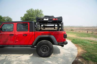 ZROADZ - 2019-2021 Jeep Gladiator Access Overland Rack With Three Lifting Side Gates, Without Factory Trail Rail Cargo System - PN #Z834201 - Image 21