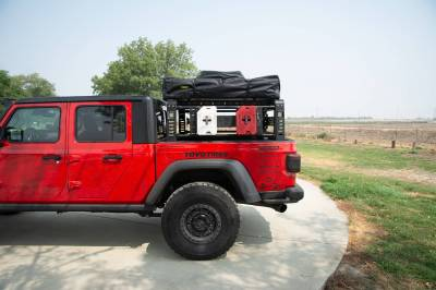 ZROADZ OFF ROAD PRODUCTS - 2019-2021 Jeep Gladiator Access Overland Rack With Three Lifting Side Gates, Without Factory Trail Rail Cargo System - PN #Z834201 - Image 24