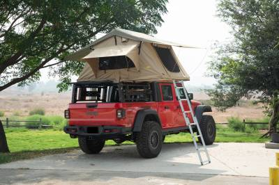 ZROADZ OFF ROAD PRODUCTS - 2019-2021 Jeep Gladiator Access Overland Rack With Three Lifting Side Gates, Without Factory Trail Rail Cargo System - PN #Z834201 - Image 25