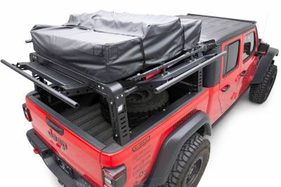 ZROADZ - 2019-2021 Jeep Gladiator Access Overland Rack With Three Lifting Side Gates, For use on Factory Trail Rail Cargo Systems - PN #Z834211 - Image 3