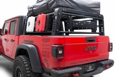 ZROADZ - 2019-2021 Jeep Gladiator Access Overland Rack With Three Lifting Side Gates, For use on Factory Trail Rail Cargo Systems - PN #Z834211 - Image 12