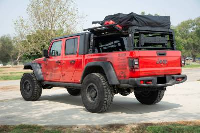 ZROADZ - 2019-2021 Jeep Gladiator Access Overland Rack With Three Lifting Side Gates, For use on Factory Trail Rail Cargo Systems - PN #Z834211 - Image 18