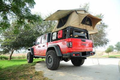 ZROADZ - 2019-2021 Jeep Gladiator Access Overland Rack With Three Lifting Side Gates, For use on Factory Trail Rail Cargo Systems - PN #Z834211 - Image 24