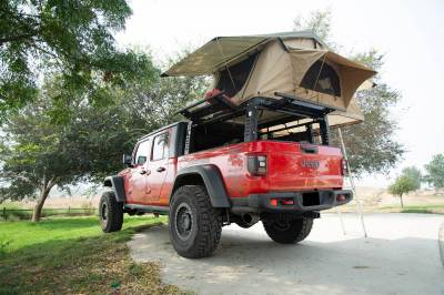 ZROADZ - 2019-2021 Jeep Gladiator Access Overland Rack With Three Lifting Side Gates, For use on Factory Trail Rail Cargo Systems - PN #Z834211 - Image 25