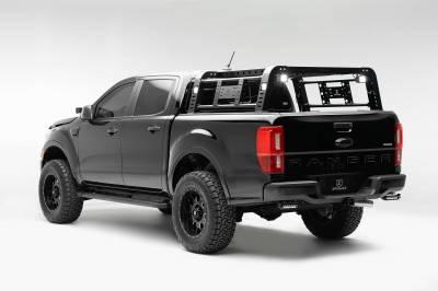 ZROADZ - 2019-2021 Ford Ranger Overland Access Rack With Side Gates with (4) 3 Inch ZROADZ LED Pod Lights - PN #Z835101 - Image 2