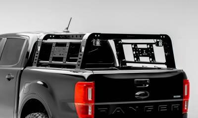 ZROADZ - 2019-2021 Ford Ranger Overland Access Rack With Side Gates with (4) 3 Inch ZROADZ LED Pod Lights - PN #Z835101 - Image 3