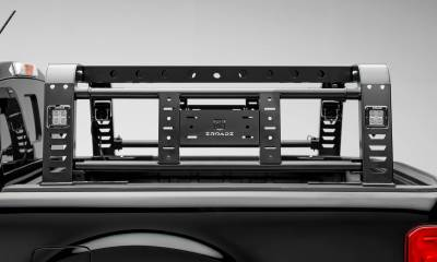 ZROADZ - 2019-2021 Ford Ranger Overland Access Rack With Two Lifting Side Gates and (4) 3 Inch ZROADZ LED Pod Lights - PN #Z835101 - Image 8