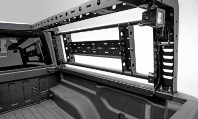 ZROADZ - 2019-2021 Ford Ranger Overland Access Rack With Two Lifting Side Gates and (4) 3 Inch ZROADZ LED Pod Lights - PN #Z835101 - Image 10