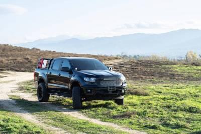 ZROADZ - 2019-2021 Ford Ranger Overland Access Rack With Side Gates with (4) 3 Inch ZROADZ LED Pod Lights - PN #Z835101 - Image 19