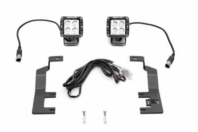 ZROADZ - 2014-2018 Silverado, Sierra 1500 Hood Hinge LED Kit with (2) 3 Inch LED Pod Lights - PN #Z362081-KIT2 - Image 10