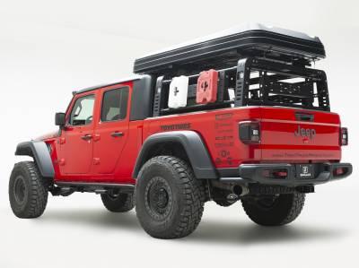 ZROADZ - 2019-2021 Jeep Gladiator Access Overland Rack Crossbars, Black, Mild Steel, Bolt-On, 2 Pc Set with Hardware - PN #Z834011 - Image 11