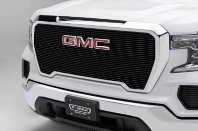 T-REX Grilles - 2019-2021 GMC Sierra 1500 Billet Grille, Black, Aluminum, 1 Pc, Insert - PN #20214B - Image 1