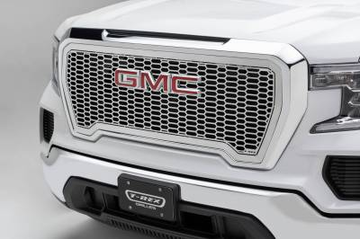 T-REX Grilles - 2019-2021 GMC Sierra 1500 Laser X Grille, Polished, Stainless Steel, 1 Pc, Insert - PN #7712280 - Image 1