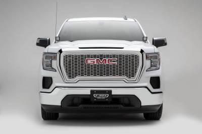 T-REX Grilles - 2019-2021 GMC Sierra 1500 Laser X Grille, Polished, Stainless Steel, 1 Pc, Insert - PN #7712280 - Image 3