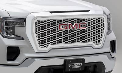 T-REX Grilles - 2019-2021 GMC Sierra 1500 Laser X Grille, Polished, Stainless Steel, 1 Pc, Insert - PN #7712280 - Image 4