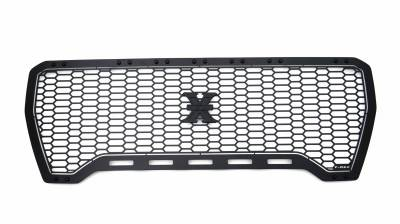 T-REX Grilles - 2019-2021 GMC Sierra 1500 Stealth Laser X Grille, Black, Mild Steel, 1 Pc, Insert - PN #7712271-BR - Image 5