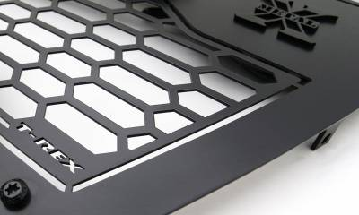 T-REX Grilles - 2019-2021 GMC Sierra 1500 Stealth Laser Torch Grille, Black, Mild Steel, 1 Pc, Insert - PN #7312281-BR - Image 6
