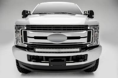 ZROADZ - 2017-2019 Ford Super Duty Front Bumper Top LED Kit with (1) 30 Inch LED Curved Double Row Light Bar - PN #Z325472-KIT - Image 4