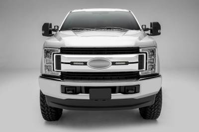 ZROADZ OFF ROAD PRODUCTS - 2017-2019 Ford Super Duty XLT, XL STX OEM Grille LED Kit with (2) 6 Inch LED Straight Single Row Slim Light Bars, Black - PN #Z415571-KIT - Image 2