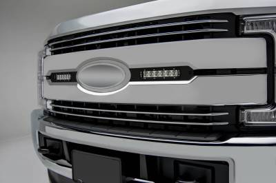 ZROADZ OFF ROAD PRODUCTS - 2017-2019 Ford Super Duty Lariat, King Ranch OEM Grille LED Kit with (2) 6 Inch LED Straight Single Row Slim Light Bars - PN #Z415471-KIT - Image 1