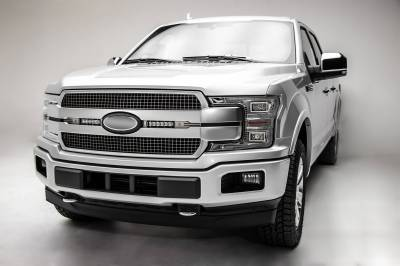 ZROADZ OFF ROAD PRODUCTS - 2018-2020 Ford F-150 Platinum OEM Grille LED Kit with (2) 6 Inch LED Straight Single Row Slim Light Bars - PN# Z415583-KIT - Image 4