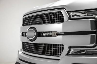 ZROADZ OFF ROAD PRODUCTS - 2018-2020 Ford F-150 Platinum OEM Grille LED Kit with (2) 6 Inch LED Straight Single Row Slim Light Bars - PN# Z415583-KIT - Image 5