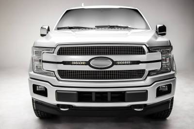 ZROADZ - 2018-2020 Ford F-150 Platinum OEM Grille LED Kit with (2) 6 Inch LED Straight Single Row Slim Light Bars - PN# Z415581-KIT - Image 3
