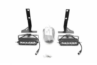 ZROADZ OFF ROAD PRODUCTS - 2018-2021 Ford Rear Bumper LED Kit with (2) 6 Inch LED Straight Single Row Slim Light Bars - PN #Z385662-KIT - Image 2