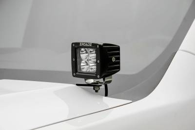 ZROADZ - 2007-2013 Silverado Sierra 1500 Hood Hinge LED Bracket to mount (2) 3 Inch LED Pod Lights - PN #Z362051 - Image 1