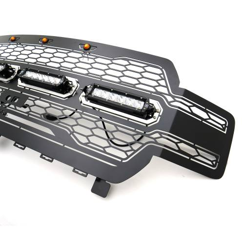 T-REX Grilles - 2018-2020 F-150 Revolver Grille, Black, 1 Pc, Replacement with (4) 6 Inch LEDs, Fits Vehicles with Camera - PN #6515791 - Image 5