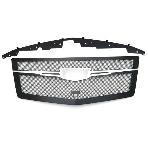 T-REX Grilles - 2015i-2020 Escalade Upper Class Series Main Grille, Black with Chrome Plated Center Trim Piece, 1 Pc, Replacement, Fits Vehicles with Camera - PN #51191 - Image 7